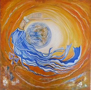 Fée de l'univers (Acrylique ) -copyright Pascale Richert