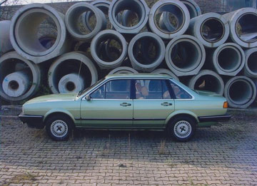 Understatement pur, 1983er VW Santana GL5, original 17000 km, steht heute bei einem Santana Sammler