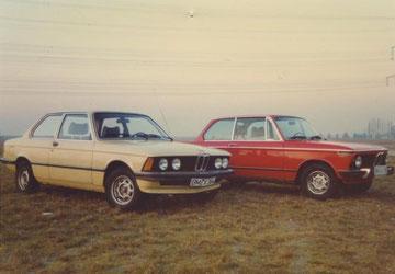 BMW 320/4 von 1977 mit BMW 1602 von 1974