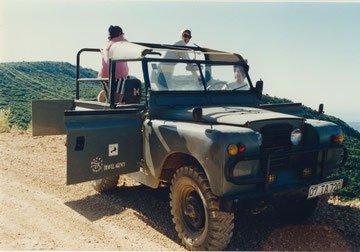 """unterwegs im Hochgebirge Kas/Türkei mit einem alten """"Landy"""""""