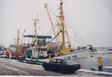 eiskalter Winter 1996/97, Audi 80 CD 5 S am Husumer Hafen