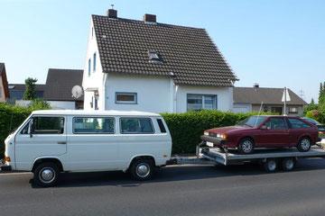 VW T3 Transporter aus 1988 mit VW Scirocco aus 1985, Traumgespann