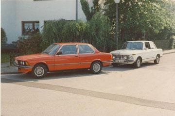BMW 316 von 1980 mit BMW 1602 von 1972