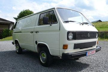 VW T3 Transporter, geschlossener Kasten mit 112 PS Benzinmotor. In diesem Zustand absolute Rarität !