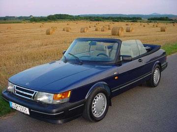 Saab 900S Cabriolet aus 1993, eins der letzten, 2003 aus Erstbesitz gekauft und 2008 in völliger geistiger Umnachtung verkauft