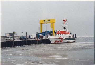 Hafen Nordstrand, Fähre nach Pellworm.....die Nordsee war teilweise zugefroren!!!