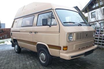 VW T3 Syncro von 1986 mit original Polyroof Werksausbau, einer von 15 !! je gebauten, Restauration für 2014 geplant
