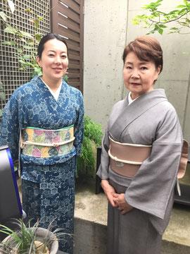七緒 野村友里さん、紘子さん母子