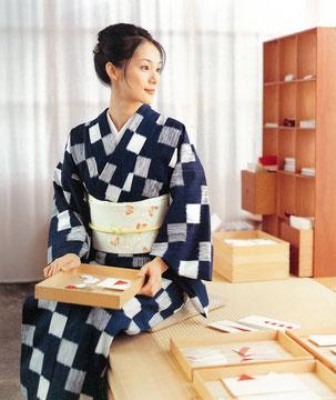 主婦と生活社 木綿の本  着付けスタイリング:東三季