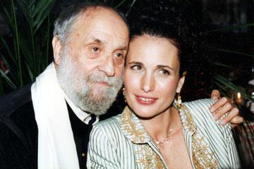 César et Andy Macdowel - Paris -  1997 - Photo © AnikCouble