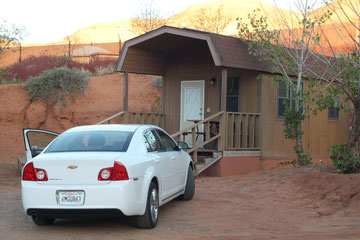 Arizona (USA) - The cabin of the Goulding's Campground - Near the Monument Valley