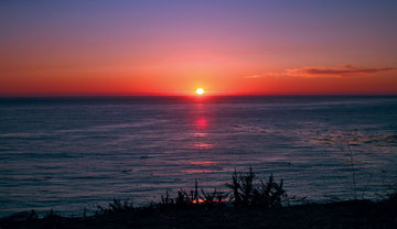 California (USA) - US 101 - Big Sur Sunset