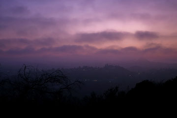 California (USA) - Los Angeles - Sunset by the Runyon Canyon Park