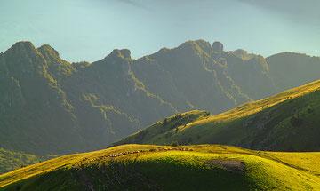 Alpeggi sul M. Guglielmo - Panorama sul Lago di Iseo