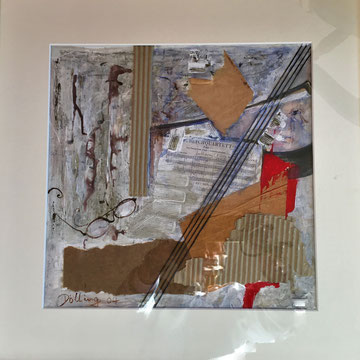 Beethoven`s Brille ,Collage . i.R.52x52