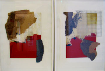 2 Collagen / Material mix a.Pappe i. R. je 70x50