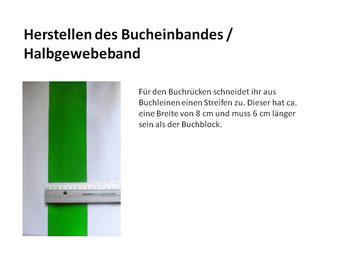 Buchbinden : Herstellen des Bucheinbandes / Halbgewebeband,www.sophieskreativseite.de