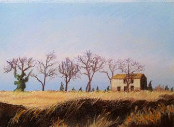 Abandon, pastel 28,5 x20,5 Sylvie Berman artiste peintre