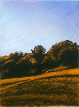 Aube, pastel 29x25 Sylvie Berman artiste peintre