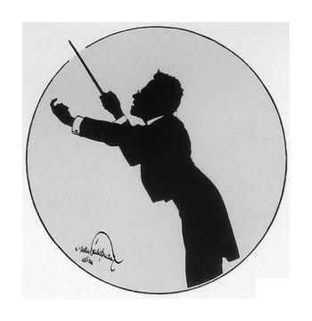 Caricatura de Hans Schliessmann, 1901.