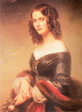 Cécile Jeanrenaud, esposa de Mendelssohn, 1846. Eduard Magnus.