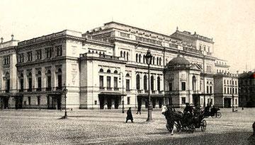 Conservatorio de San Petersburgo en 1900, donde Rimski-Kórsakov enseñó desde 1871 hasta su muerte.