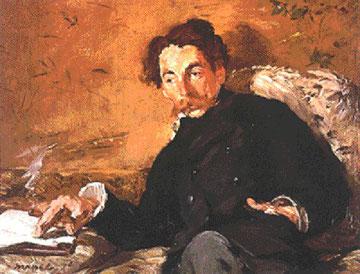 Retrato de Stéphane Mallarmé pintado por Monet (París, 1842-Valvins, Francia, 1898) Poeta francés.