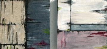 """""""Grenzen"""" Acryl auf Leinwand Diptychon 2mal 50/50cm"""