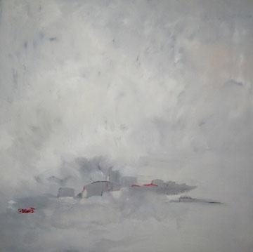 """""""Nebel"""" Acryl auf Leinwand 80/80cm"""