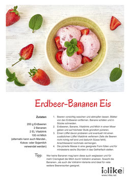 Erdbeer-Banane Eis