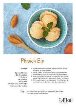 Pfirsich Eis