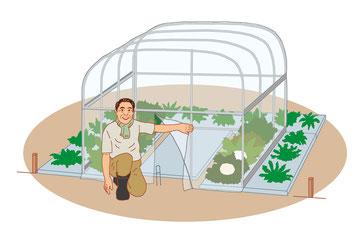 ガーデニング 園芸 農園 育て方  ビニールハウス