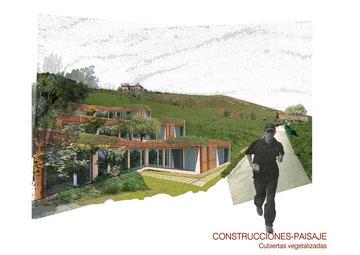 maisons-paysages insérées dans la colline