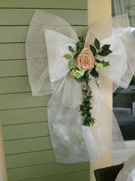 noeud pour décoration du mariage de Sophie et Michel