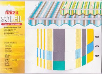 "Naizil ""Soleil""(Nopan Stampato) Pvc -Rigato- Codice Colore n.345/n.346/n.347"