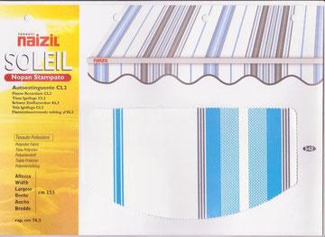 """Naizil """"Soleil"""" (Nopan Stampato) Pvc -Colore a fascia- Codice Colore 542"""