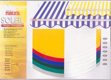 """Naizil """"Soleil"""" impermiabile pvc - Codice colore n.318/n.324/n.329/n.327/n.323/n.380/n.314"""