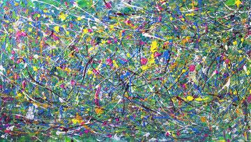 Spiel mit mir / 2015,  Acryl auf Styroporplatte, 50 x 100 cm