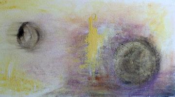 O. T. / 2015, Acryl auf Styroporplatte, 100 x 50 cm