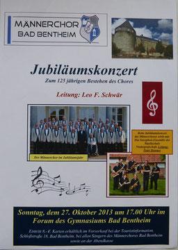Das Plakat zum Jubiläumskonzert
