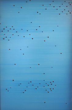"""Daekwan Kim """"DAS LICHT AUF DEM WASSER"""" - tOG Nr. 008 - 71x111x6 cm(c) Dirk Palder tOG Düsseldorf"""