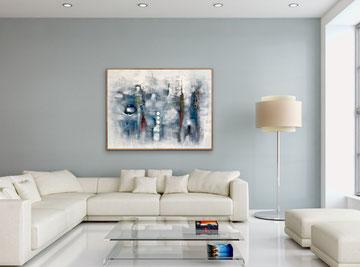 SOSPESO IN UN PRATO CELESTE, 2017, 122 x 100 cm (Disponibile)
