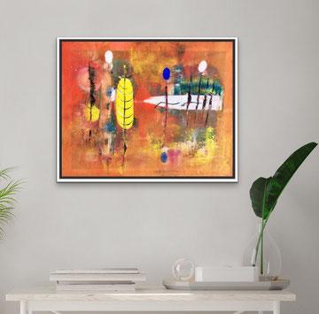 FORMA GIALLA E STRUTTURA, 2019, 53 X 43 cm (Disponibile)