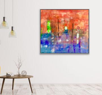 ROSSO DI UN VIAGGIO, 2018, 98 x 82 cm (Disponibile)