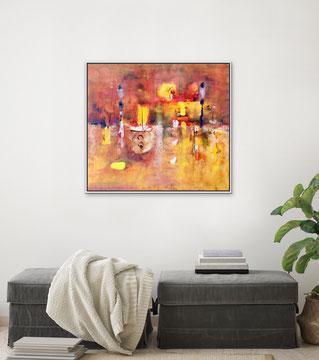 ROSSO SERALE, 2018, 98 x 82 cm (Disponibile)