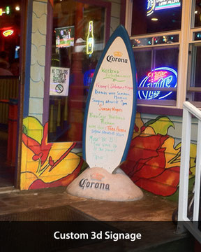 Corona Menu Surfboard with Sand Due 7 feet