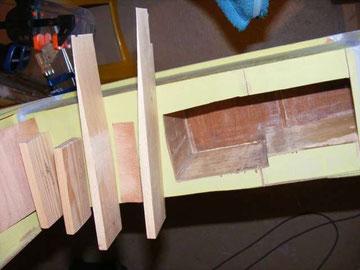 Les cales biseautées à mettre en place