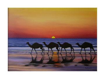 Sun-set at Lanzarote    70x50  cm  2005