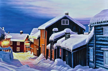 The charme ... of snow ! 80x60 2015 ( private collection)