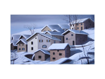 Mountain village  50x30  cm  2006